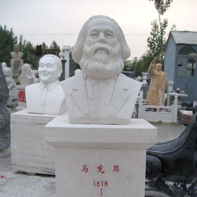 马克思汉白玉头像校园名人雕塑