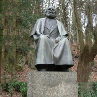 世界名人马克思铜雕像