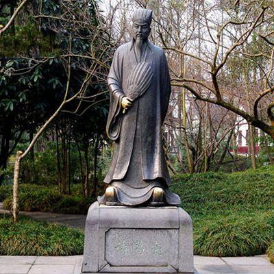 诸葛亮铸铜雕塑