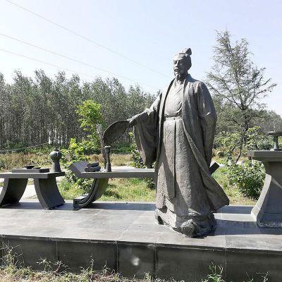 诸葛亮公园景观小品雕塑