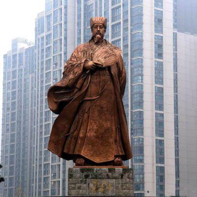 诸葛亮城市景观铜雕像