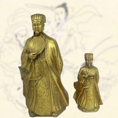 铜雕名人诸葛亮雕像