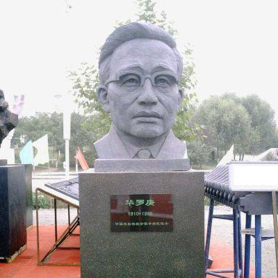 华罗庚石雕头像