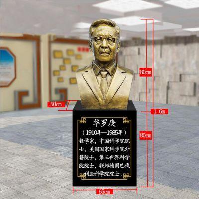 华罗庚玻璃钢仿铜雕塑