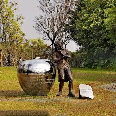 牛顿公园景观雕塑