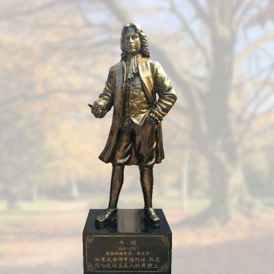 牛顿玻璃钢仿铜雕像
