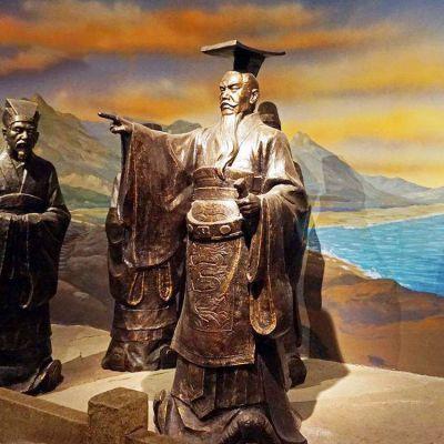 秦始皇铜雕像