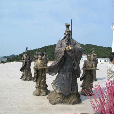 秦始皇祭祀铜雕情景小品雕塑