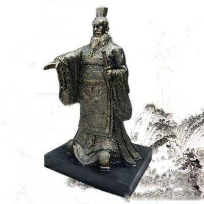 秦始皇玻璃钢仿铜雕塑