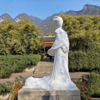 王昭君汉白玉石雕像