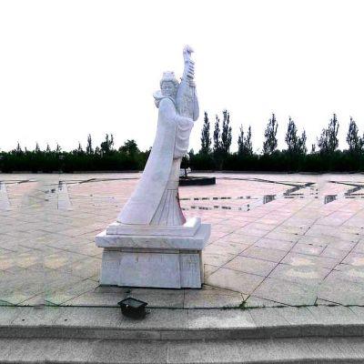 王昭君广场石雕塑