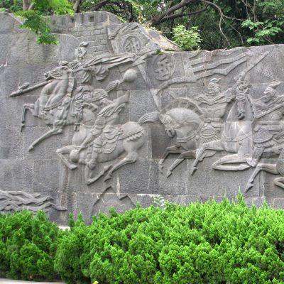 岳飞元帅石刻浮雕