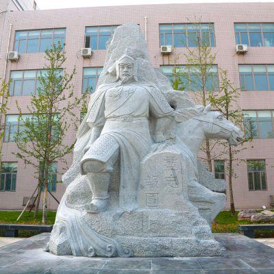 校园尽忠报国岳飞石刻雕塑