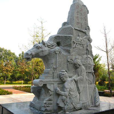 岳母刻字岳飞石刻浮雕景观雕塑