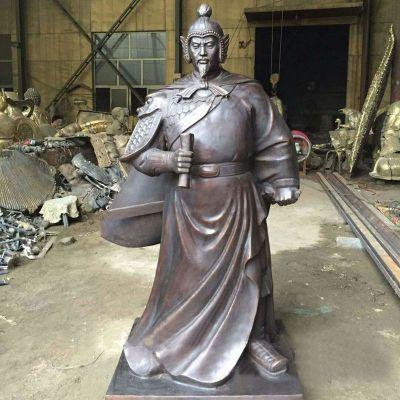 历史名人铜雕塑岳飞铜像雕塑