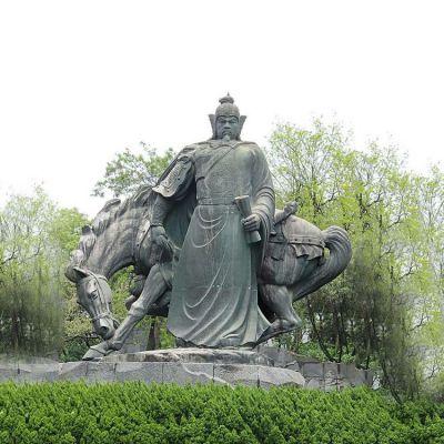 岳飞铜雕景观雕像