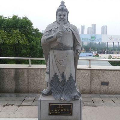 岳飞青石雕塑