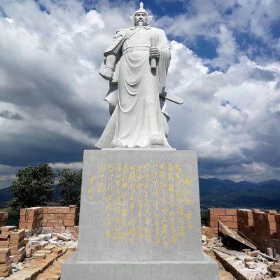 大型岳飞汉白玉石雕像