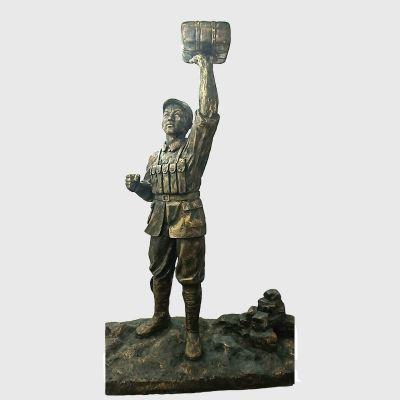 董存瑞仿铜雕塑