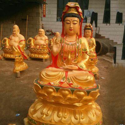 大型铸铜观音雕塑