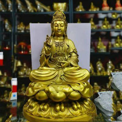 铸铜观音菩萨佛像雕塑