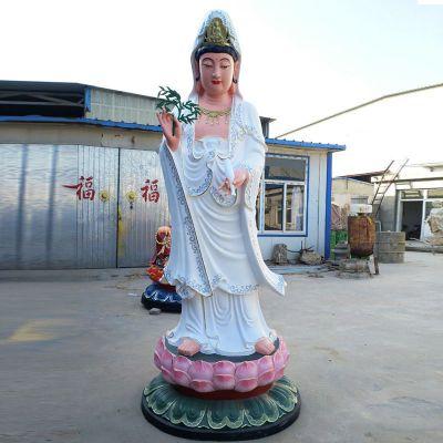 滴水观音玻璃钢彩绘雕塑