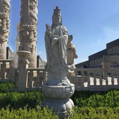 青石观音菩萨石雕塑