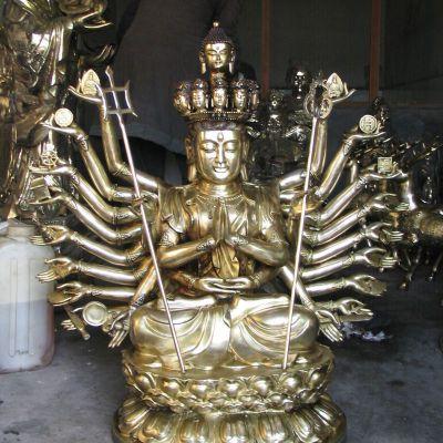 千手观音铜雕塑