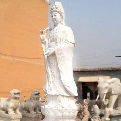 滴水观音汉白玉石雕塑