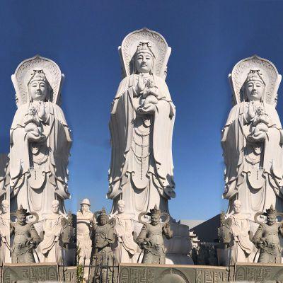 送子观音大型石雕塑