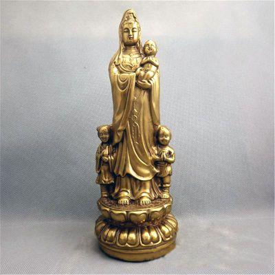 送子观音纯铜雕塑