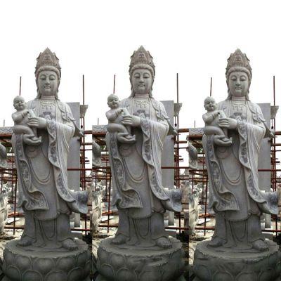 石雕送子观音雕塑