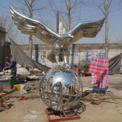 老鹰不锈钢雕塑