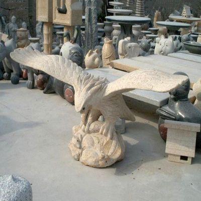 大理石老鹰石雕塑