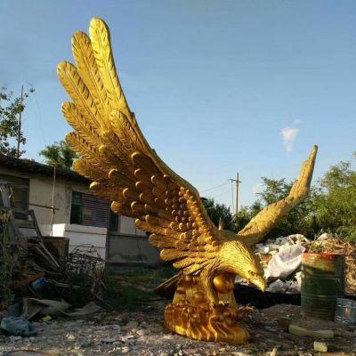 玻璃钢仿铜老鹰雕塑
