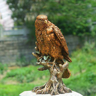 玻璃钢仿铜仿真老鹰雕塑