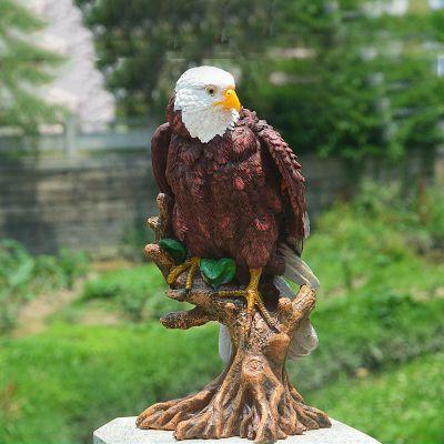 公园仿真老鹰玻璃钢雕塑