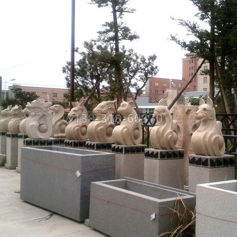 抽象12生肖石雕(款二)