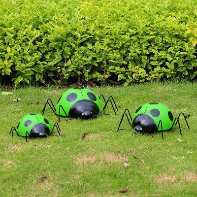 绿色七星瓢虫雕塑