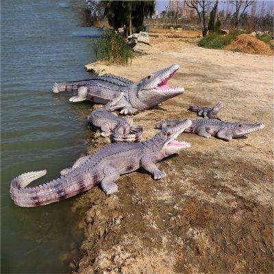 水景鳄鱼雕塑