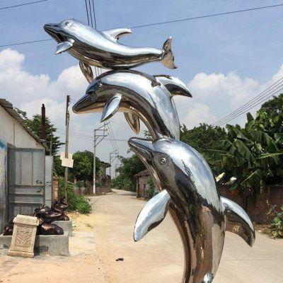 海豚不锈钢雕塑