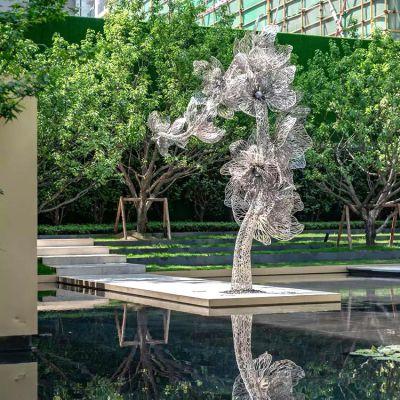 园林不锈钢花树雕塑