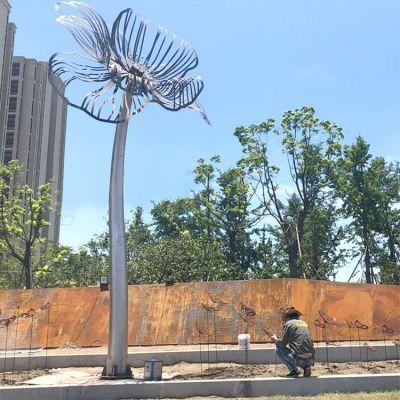 户外不锈钢树雕塑