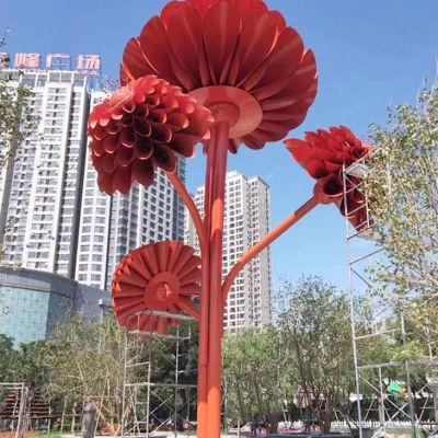 不锈钢大型花树雕塑