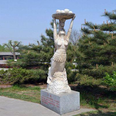 女娲石雕雕塑