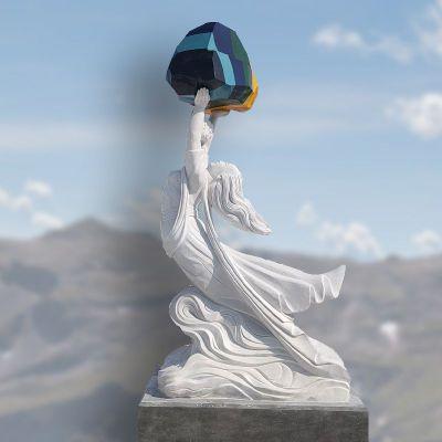 女娲补天石雕
