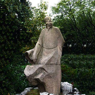 苏轼砂岩石雕塑