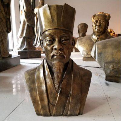 玻璃钢仿铜苏轼头像雕塑