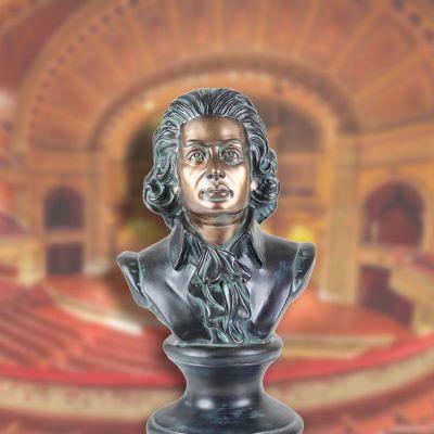 玻璃钢仿铜莫扎特头像