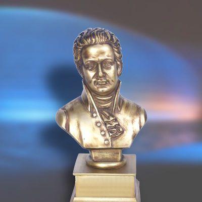 纯铜莫扎特头像雕塑